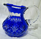 Cut to Clear Blue Small Pitcher