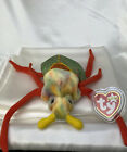 Rare Retired Ty Beanie Baby Scurry The Beetle 2000 Mint P.E. Pellets With Errors