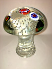 Vintage Murano Millefiori Mushroom Paperweight Controlled Bubbles