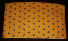 VINTAGE PIERRE DEUX FABRIC WARM YELLOW WITH BLUE FLOWERS 18 X 60 INCHES BN