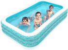 Inflatable Swimming Pool Full Size Lounge Kids Adult Toddler Outdoor Water Party