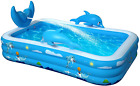Inflatable Swimming Pool Family Kiddie Splash Above Ground Garden Summer Party