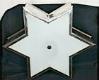 Chrome And Glass Star Shaped Ceiling Flush Mount Light With LED Bulbs