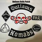 Outlaws Hells Patch Nomads Embroidered Iron On Biker For The Motorcycle Jackets