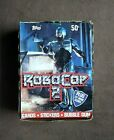 1990 Topps RoboCop 2 Movie Trading Cards Box 36 Sealed Wax Packs + Ad Poster
