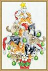 Design Works COUNTED Cross Stitch Kit 3419 Christmas Cat Tree