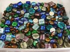 4 Pounds Assorted India Handmade Large Focal Foil Glass Beads Bulk Lot GG 97