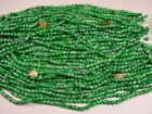 15 Strands 30 China Green Spray Painted Glass Beads Wholesale Lot YU 30
