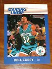 1988 Starting Lineup SLU Basketball Dell Curry - Charlotte Hornets Card