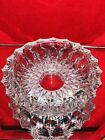 Vintage Collectible Tobacciana Lead Crystal Cut Clear Glass Ashtray 6 1 2
