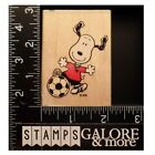 Stampabilities Rubber Stamps PEANUTS GR1034 SNOOPY THE HOT SHOT SOCCER 544