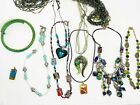 Vintage 10 Necklace Lot Glass Murano And More Very Artsy Pieces