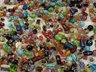 4 Pounds Assorted India Handmade Fancy Glass Beads Wholesale Bulk Lot DT 15