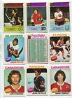 1975-76 O-PEE-CHEE OPC PARTIAL SET #366 396 PACK FRESH IMMACULATE MINT CARDS