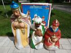General Foam 3 Wise Men Large Nativity Blow Mold Set Christmas Lighted Outdoor