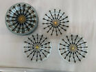 Higgins Studio Fused Art Glass Classic Line MCM Starburst gold white plate