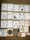 Lot of 20 Assorted Stampin Up Sets Unmounted 171 Rubber Stamps Cling New  Used