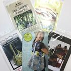 AMY BUTLER Frenchy Bag Purse Tote 5pc Sewing Pattern Lot Stitchin Sisters Snap