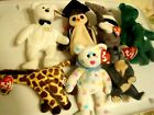 Ty Beanie Babies Lot of 8 Bears -Erin (2), Kissme, Mr. T.. Ant, Wise, Jumpshot,