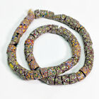 69 Antique Venetian Millefiori Glass African Trade Beads Large Mixed 29 Strand