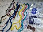 Glass Bead Lot 20 Strands 1 2 Czech Jewelry Making Blue Red Yellow 1lb DIY B4