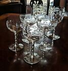 6 Vintage Glasses 2 Water 2 champagne coupes 2 Nick and Nora twist stem 521vzw