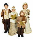 Vintage Victorian Christmas Carolers Family Mom Dad  Children Large 29 41