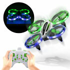 Mini Stunt Drone RC Glow up with LED Lights Small Plane for Kids