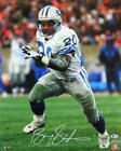 Barry Sanders Autographed Up Close Running 16x20 HM Photo- Beckett *White