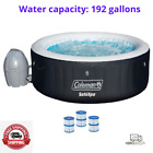 Coleman SaluSpa 71 x 26 Inflatable Spa 4 Person Hot Tub w 3 Filter Cartridges
