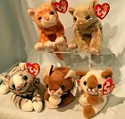 Cats Lot of 5 Ty Beanie Babies  Retired 1996 to 1999 $44.99