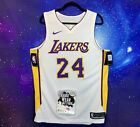 RARE Nike Authentic Los Angeles Lakers Kobe Bryant WHITE jersey Sz 48 Nba