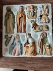HOMCO Home Interiors Christmas Nativity 8 Piece Set 5599 Porcelain