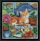 Design Works COUNTED Cross Stitch Kit 3399 Welcome Cat