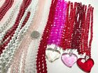 CRYSTAL Beads Bulk glass beads for jewelry making Red Pink I LOVE YOU 5 lbs