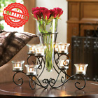 Glass Vase with Eight Glass Candle Holders Wedding Centerpiece Home Decor New