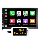 Double 2 Din 7 Car Apple Andriod Car Play Touch Screen Stereo Bluetooth Radio
