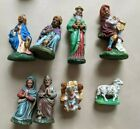Vintage Hand Painted Nativity 8 Pc Set Made in W Germany + 5 Extras