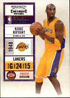 2010-11 Playoff Contenders Patches Lakers Basketball Card #1 Kobe Bryant