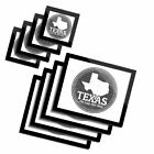 4x Glass Placemates  Coasters BW Texas State USA America Map Travel 4004