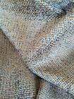 BLUE BROWN WOVEN SOFT HEAVY CHENILLE REMNANT UPHOLSTERY FABRIC