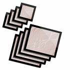 4x Glass Placemates  Coasters Rose Gold Marble Effect 2452
