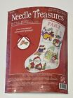 Needle Treasures Snow People Stocking Counted Cross Stitch Kit Sealed New 02999