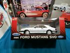 RARE WELLY 1986 FORD MUSTANG SVO WHITE 1 18 DIECAST CAR BEAUTIFUL VERY NICE CAR