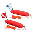 High Visibility Swim Marker Buoy w Dive Flag for Scuba Diving Spearfishing