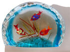Vintage Murano Glass Large Two Sided Aquarium Fish  Coral