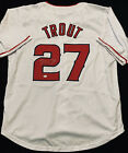 Mike Trout Signed Los Angeles Angels White Jersey with COA