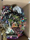 HUGE LOT B OF GLASS STONE BEADS  MORE FOR JEWELRY MAKING 10LBS LQQK