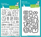 Lawn Fawn SMORE THE MERRIER Clear Stamp  Lawn Cuts Die Set Combo LF2593 LF2594