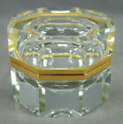 Vintage Mid Century Murano Sommerso Cut Crystal  Brass Mounted Box
